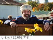 Участник VI Международного фестиваля «Казачья станица. Москва» в парке «Царицыно» города Москвы, Россия (2016 год). Редакционное фото, фотограф Николай Винокуров / Фотобанк Лори