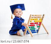 Купить «early learning baby», фото № 23667074, снято 2 апреля 2014 г. (c) Оксана Кузьмина / Фотобанк Лори