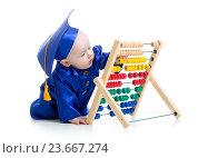 Купить «early learning baby», фото № 23667274, снято 19 марта 2014 г. (c) Оксана Кузьмина / Фотобанк Лори