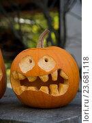 Купить «Halloween pumpkin», фото № 23681118, снято 26 июня 2019 г. (c) age Fotostock / Фотобанк Лори