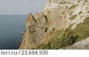 Купить «Красивый мыс Фиолент. Крым», видеоролик № 23694930, снято 3 августа 2016 г. (c) Юлия Машкова / Фотобанк Лори