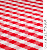 Купить «red checked fabric tablecloth», фото № 23715934, снято 17 октября 2011 г. (c) Оксана Кузьмина / Фотобанк Лори