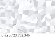 Купить «abstract monochrome low poly pattern background», фото № 23732346, снято 26 сентября 2018 г. (c) Syda Productions / Фотобанк Лори