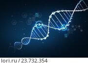 Купить «dna molecule structure with hydrogen formula», иллюстрация № 23732354 (c) Syda Productions / Фотобанк Лори