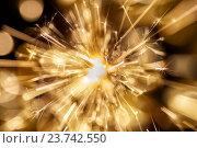 Купить «Fireworks at dark background», фото № 23742550, снято 13 января 2016 г. (c) Константин Юганов / Фотобанк Лори
