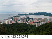 Купить «Dense high rise residential uildings of southern Hong Kong», фото № 23759574, снято 18 февраля 2020 г. (c) age Fotostock / Фотобанк Лори