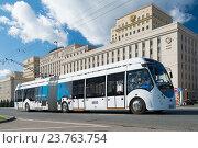 Купить «Троллейбус БКМ 43303А с автономным ходом. Праздник московского троллейбуса. 83-летие троллейбусов в Москве.», эксклюзивное фото № 23763754, снято 1 октября 2016 г. (c) Алексей Бок / Фотобанк Лори