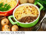 Купить «Картофельная запеканка с мясом», фото № 23764470, снято 11 октября 2016 г. (c) Надежда Мишкова / Фотобанк Лори