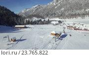 Купить «Вид сверху на горнолыжный курорт в Черногории», видеоролик № 23765822, снято 20 января 2016 г. (c) Иван Кузнецов / Фотобанк Лори