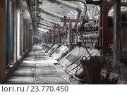 Купить «Электролизный цех на алюминиевом заводе», фото № 23770450, снято 14 марта 2012 г. (c) Кекяляйнен Андрей / Фотобанк Лори