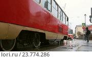 Парад трамваев 2016: Татра Т-3 и Татра Т-6 Б5. Редакционное видео, видеограф Nadya S. / Фотобанк Лори