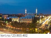 Купить «Махачкала. Центральная Джума-мечеть («Юсуф Бей Джами»)», эксклюзивное фото № 23803402, снято 21 сентября 2016 г. (c) Литвяк Игорь / Фотобанк Лори