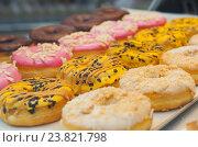 Вкусные пончики. Стоковое фото, фотограф Елена Поминова / Фотобанк Лори