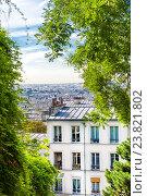 Вид на Париж с Монтмартра (2016 год). Стоковое фото, фотограф Елена Поминова / Фотобанк Лори