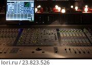 Купить «Студия звукозаписи, оборудование для записи», фото № 23823526, снято 17 сентября 2015 г. (c) Maxim Tarasyugin / Фотобанк Лори