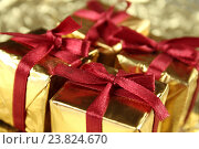 Новогодние подарки. Стоковое фото, фотограф Allika / Фотобанк Лори