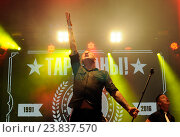 """Купить «Рок группа """"Тараканы"""" отмечает свое 25-летие на сцене Доброфеста», фото № 23837570, снято 1 июля 2016 г. (c) Голованов Сергей / Фотобанк Лори"""