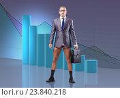 Купить «Bankrupt businessman in business concept», фото № 23840218, снято 22 марта 2019 г. (c) Elnur / Фотобанк Лори
