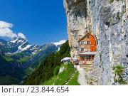 Купить «Äscher Wildkirchli, Appenzell,», фото № 23844654, снято 28 июня 2016 г. (c) age Fotostock / Фотобанк Лори