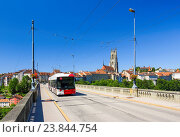 Купить «Cathedral St. Nikolaus in FribourgSwitzerland», фото № 23844754, снято 20 июля 2016 г. (c) age Fotostock / Фотобанк Лори