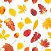 Бесшовный фон с осенними листьями, фото № 23859870, снято 23 октября 2016 г. (c) Наталия Пыжова / Фотобанк Лори