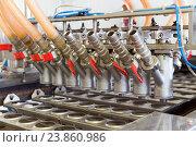 Купить «Автоматическая линия по производству мороженого», фото № 23860986, снято 24 апреля 2015 г. (c) Евгений Ткачёв / Фотобанк Лори