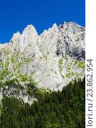 Купить «Engelhörner mountains in the Bernese Oberland, Switzerland,», фото № 23862954, снято 17 июля 2016 г. (c) age Fotostock / Фотобанк Лори