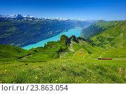 Купить «Brienzer Rothorn mountain, Bernese Oberland, Switzerland,», фото № 23863054, снято 19 июля 2016 г. (c) age Fotostock / Фотобанк Лори