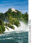 Купить «The Rhine Falls with the Laufen castle, Switzerland», фото № 23863154, снято 6 июля 2016 г. (c) age Fotostock / Фотобанк Лори