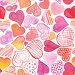 Бесшовный фон с акварельными сердечками, фото № 23873330, снято 24 октября 2016 г. (c) Наталия Пыжова / Фотобанк Лори