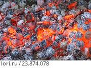 Купить «Горизонтальный фон из тлеющих углей», фото № 23874078, снято 25 июля 2015 г. (c) Наталья Гармашева / Фотобанк Лори