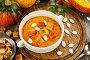 Крем-суп из тыквы с сухариками, фото № 23874310, снято 20 октября 2016 г. (c) Надежда Мишкова / Фотобанк Лори