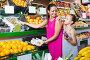 Family of woman and daughter buying various fruits, фото № 23874994, снято 21 октября 2016 г. (c) Яков Филимонов / Фотобанк Лори