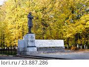 Купить «Памятник Некрасову в Ярославле», фото № 23887286, снято 23 сентября 2014 г. (c) Голованов Сергей / Фотобанк Лори