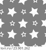 Звездный стиль, бесшовный фон. Стоковая иллюстрация, иллюстратор David Murk / Фотобанк Лори