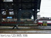 Поезда приходят на Центральный железнодорожный вокзал Милана (2014 год). Редакционное фото, фотограф Елена Антипина / Фотобанк Лори