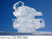 Купить «Ice floe crystal over winter Baikal lake», фото № 23905962, снято 16 марта 2013 г. (c) Serg Zastavkin / Фотобанк Лори