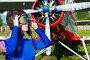 Девушка-пилот в шлеме на фоне самолета, фото № 23909094, снято 2 августа 2016 г. (c) Quadshock / Фотобанк Лори