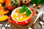Сливочный суп из тыквы с сухариками, фото № 23909754, снято 24 октября 2016 г. (c) Надежда Мишкова / Фотобанк Лори
