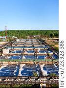 Купить «Basins for sewerage water aeration in process of sewage treatment», фото № 23923386, снято 7 сентября 2011 г. (c) Кекяляйнен Андрей / Фотобанк Лори