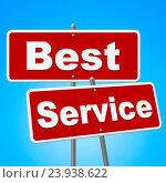 Купить «Best Service Signs Indicating Help Desk And Ideal», фото № 23938622, снято 6 ноября 2014 г. (c) easy Fotostock / Фотобанк Лори