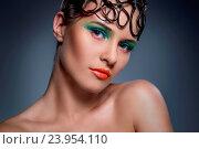Купить «Beauty. Beautiful girl with great makeup», фото № 23954110, снято 15 ноября 2014 г. (c) easy Fotostock / Фотобанк Лори