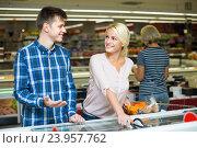 Купить «Customers at frozen food section», фото № 23957762, снято 26 июня 2019 г. (c) Яков Филимонов / Фотобанк Лори