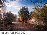 Вид загородной местности осенью. Стоковое фото, фотограф Павел / Фотобанк Лори