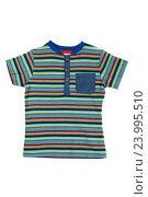 Купить «Детская полосатая рубашка», фото № 23995510, снято 9 сентября 2016 г. (c) Руслан Кудрин / Фотобанк Лори