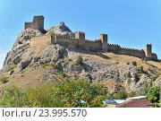 Купить «Генуэзская крепость в городе Судаке солнечным днём», фото № 23995570, снято 13 сентября 2016 г. (c) Максим Мицун / Фотобанк Лори