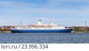 Купить «Passenger ferry MS Marco Polo», фото № 23996334, снято 13 июня 2015 г. (c) EugeneSergeev / Фотобанк Лори