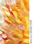 Купить «Абстрактный рисунок,  гуашь», фото № 24021518, снято 31 октября 2016 г. (c) Виктор Топорков / Фотобанк Лори