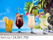 Купить «Cocktails, alcohol drinks set, natural colorful tone», фото № 24061750, снято 10 июня 2014 г. (c) easy Fotostock / Фотобанк Лори