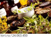 Купить «Herbal medicine, natural colorful tone», фото № 24063450, снято 12 июля 2014 г. (c) easy Fotostock / Фотобанк Лори